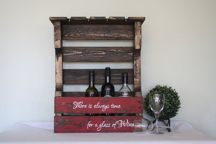 Pallet Wine Rack  Wood Wine Rack  Pallet Wine Holder  Wine