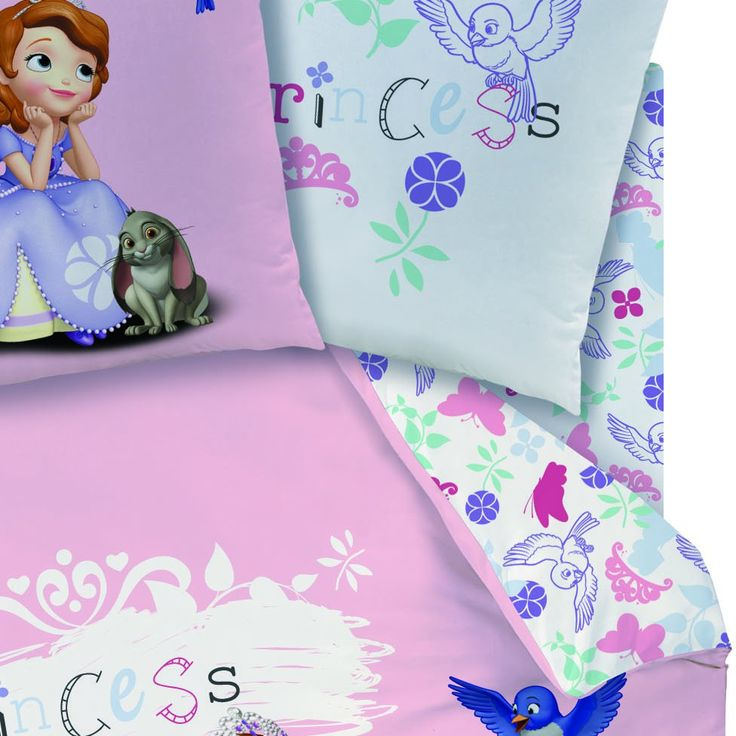 """Drap Housse DISNEY Princesse - 90 x 190 cm assorti à la Housse de Couette """" SOFIA """" - Disney Princesses/Linge de Lit Princesse : Housse de C..."""