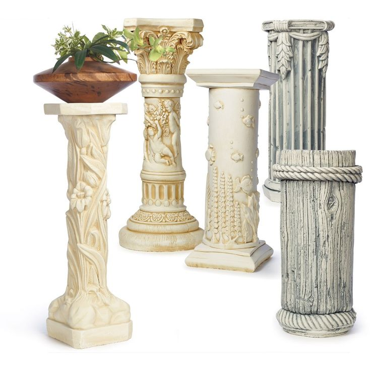 flower arrangement plaster cast of uses and cherub for lots pedestal faces column art great or plant stand white pedestals