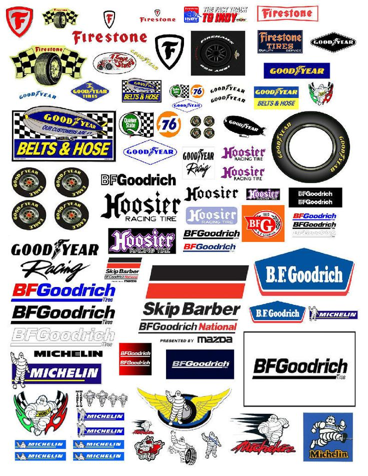 1:24 1:18 TIRE DECALS FOR DIECAST & MODEL CAR DIORAMAS
