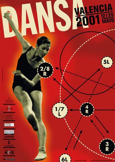 Cartel Dansa Valencia. Danza contemporánea.