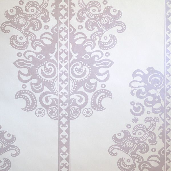 Monaco - Thistle on Ivory Clay Coated Paper Wallpaper by Flavor Paper at www.vertigohome.us