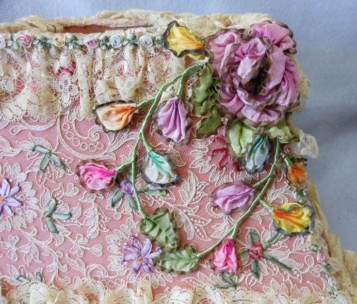 Best Antique Art Nouveau, Art Deco Silk and Lace Lampshade