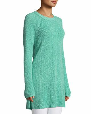 19254f7d128 Eileen Fisher Designer Linen Cotton Slub Tunic Sweater | Clothing ...
