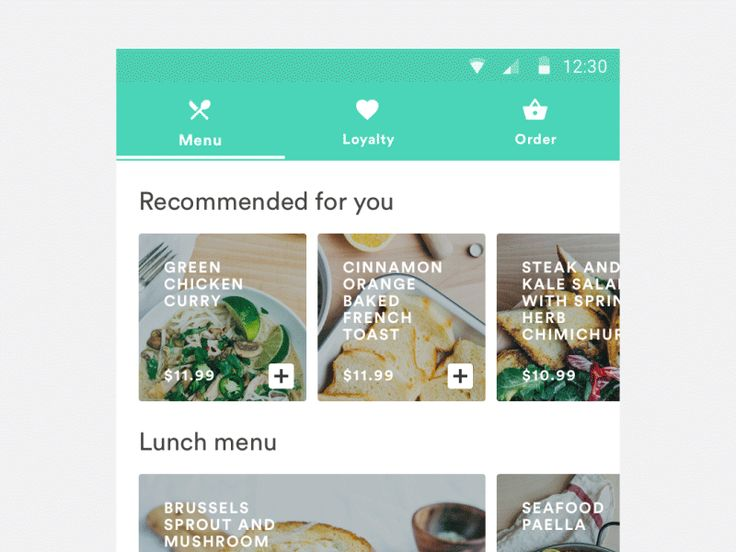 Restaurant app android