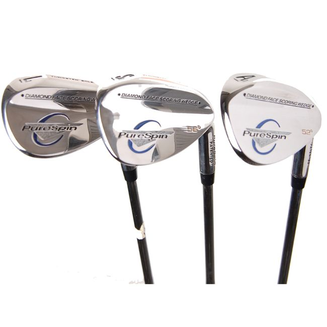 Keep on course to win with these standard-length golf wedge sets. This set comes with a 60, 56 and 52 degree wedge, making it a great gift for the golfer in your life. They are available for right-handed and left-handed players to meet your needs.