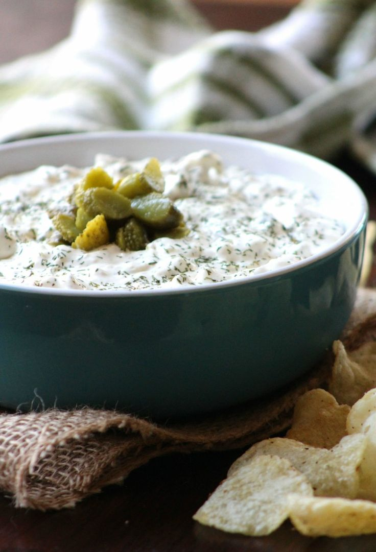 Homemade Dill Pickle & Garlic Chip Dip is one of the quintessential snack recipes combining cream cheese, sour cream, dill pickles, spring onions, fresh minced garlic, fresh dill weed, a dash o…