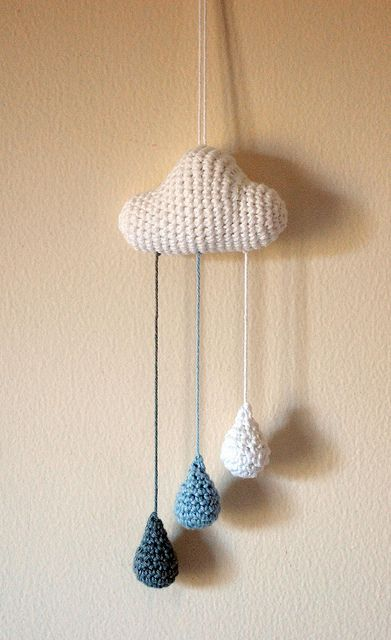 crochet cloud mobile