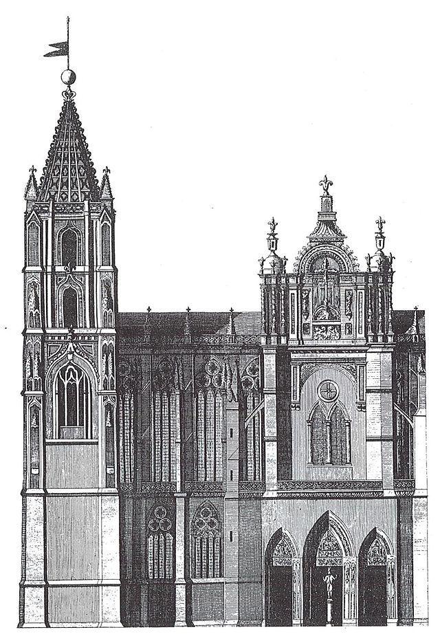 Antigua fachada sur barroca catedral de le n catedral for La arquitectura en espana
