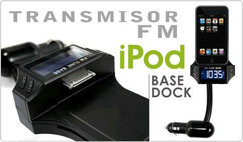 Buenos días amig@s!!#Felizjueves   Hoy destacamos nuestro #Transmisor #FM inalámbrico para #iPod #iPhone base Apple (cualquier modelo) Función Cargador.reproduce archivos de audio a través del equipo del vehículo sin necesidad de instalación ni cables, tan sólo conectándolo al mechero del coche. Conexiones USB y Jack para memorias portátiles y otros reproductores MP3/MP4. Consíguelo al mejor precio aquíhttp://www.carmultimediazone.com/Transmisor-de-FM-inalambrico-para-iPod-Funcion-Cargador