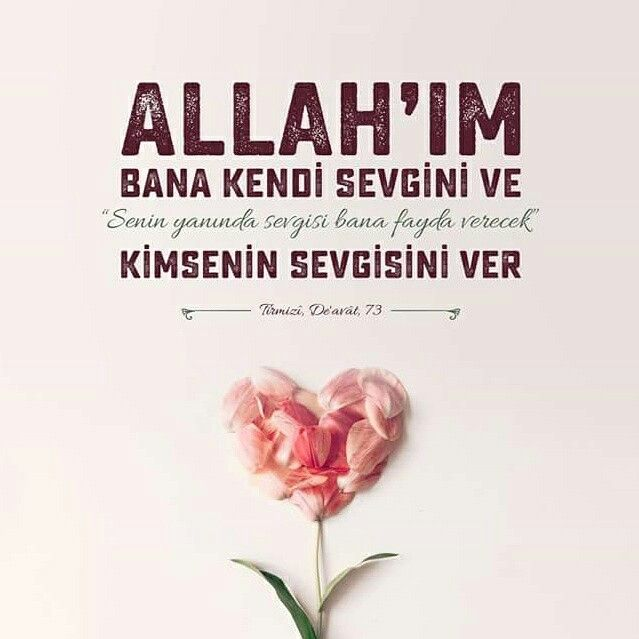 Allah'ım! Bana kendi sevgini ve senin yanında sevgisi bana fayda verecek kimsenin sevgisini ver.  [Tirmizi, De'avât, 73]  #sevgi #fayda #amin #dua #hadisler #islam #müslüman #hadis #İslamiyet #türkiye #dualar #ilmisuffa