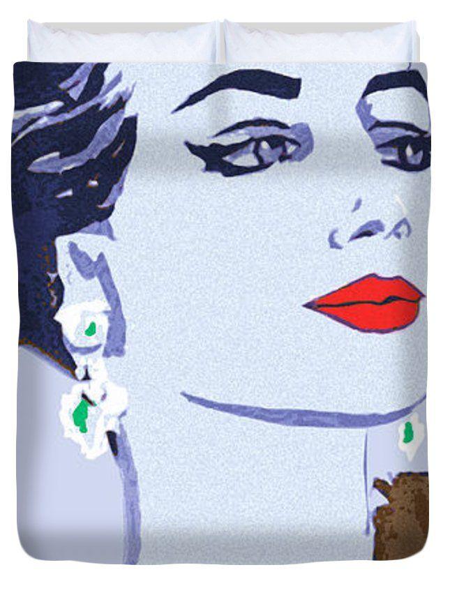 """Maria Callas Queen (88"""" x 88"""") Duvet Cover"""