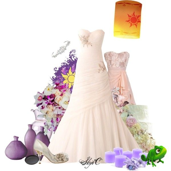 """Princess Rapunzel Wedding - Disney's Tangled"" by rubytyra on Polyvore"