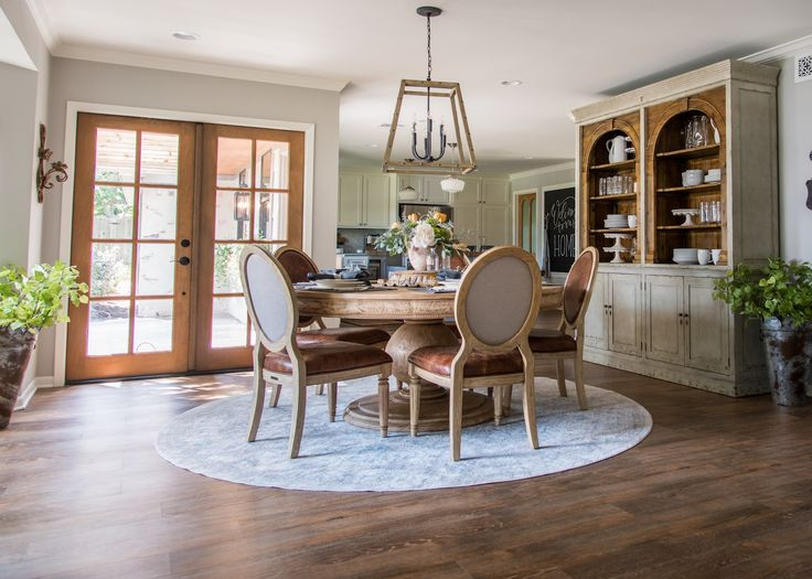 82 best dining rooms images on pinterest beams ceiling Does the furniture stay on fixer upper