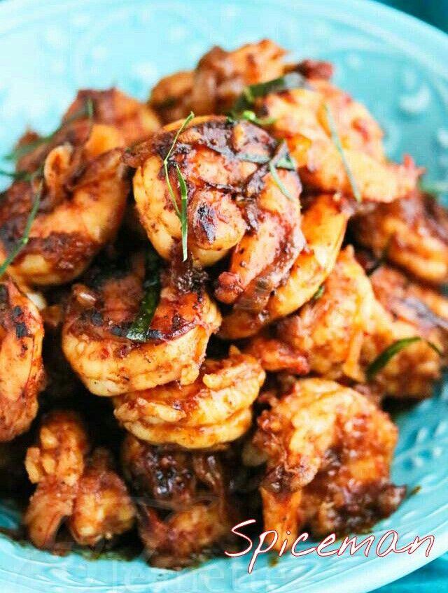Honey garlic shrimps