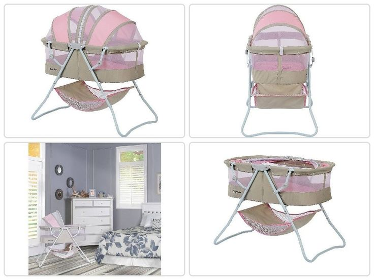 Portable #Baby #Sleeper #Bassinet Pink/Gray Infant Folding #Canopy #Nursery #Newborn