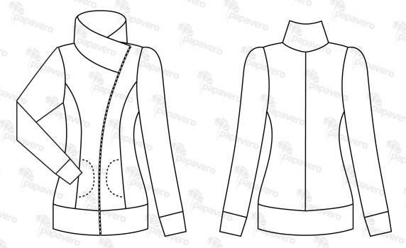 free zip jacket pattern from Polish site papavero. They have other cute patterns as well.