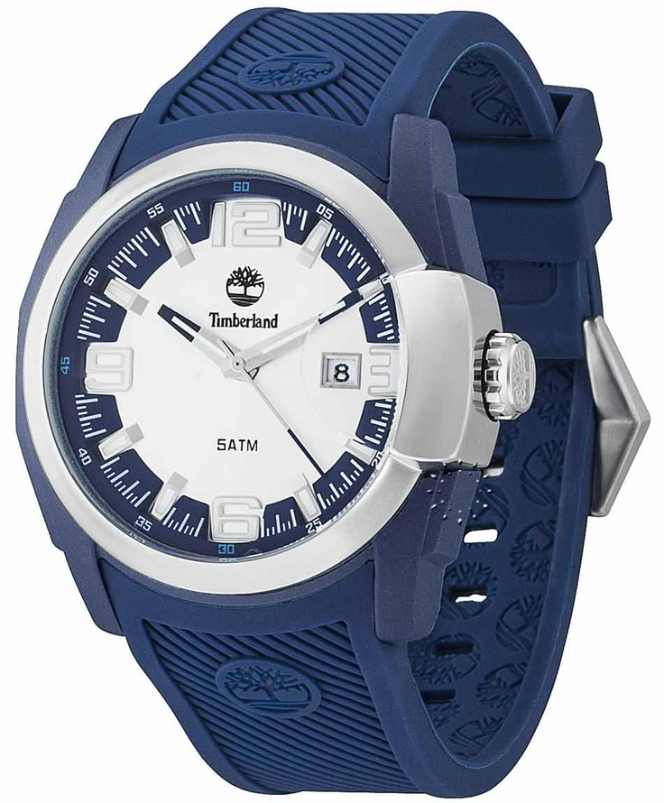 TIMBERLAND Lynwood White Dial Blue Rubber Strap Μοντέλο: 13861JPBLS-04 Τιμή: 100€ http://www.oroloi.gr/product_info.php?products_id=31644