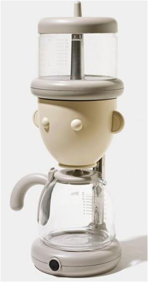 Fill my brain with coffee grounds & water and I'll make magic!  Drip coffee maker by Alessandro Mendini