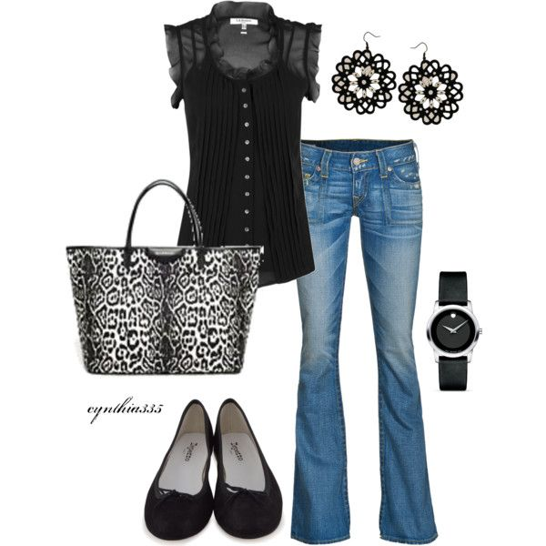 Classic Black, created by cynthia335 on Polyvore: Cute Tops, Black Outfits, Outfits Lov, Hello Gorgeous, Cute Outfits, Casual Outfits, Black Tops, Bags, Classic Black