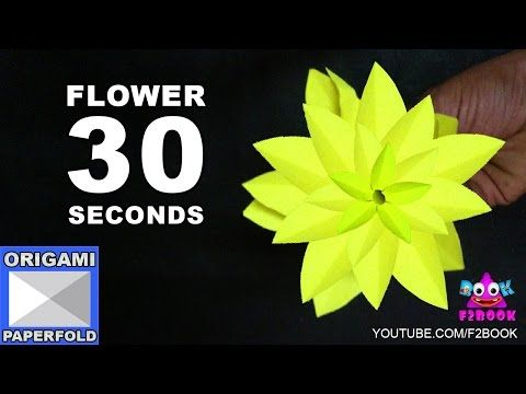 Easy origami flower Making (30 Seconds instruction - YouTube