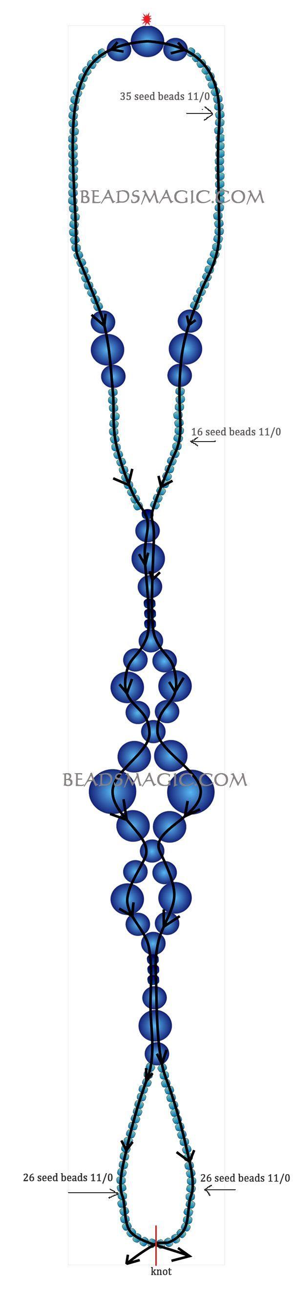 patrón libre para los pies (ankel) pulsera Sun Paso | Magic Beads...granos de la semilla 11/0  granos de la semilla 8/0  perlas 8 mm  perlas de 6 mm  Perlas 4 mm  hilo elástico !!  Comience con 2 agujas de estrella roja.