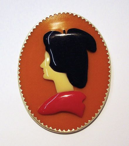 Recently received for sale: Octavia Cook, Kokku Kaisha pre-antiquing, brooch, 2009, acrylic, Bakelite, stg silver