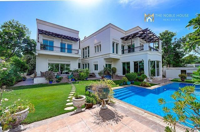 Beautiful Villa In Emirates Hills For Sale Tnh Luxury Homes 10 Bedroom Luxurious Villa With Golf Course View Tnh Luxury Homes Beautiful Villas Noble House