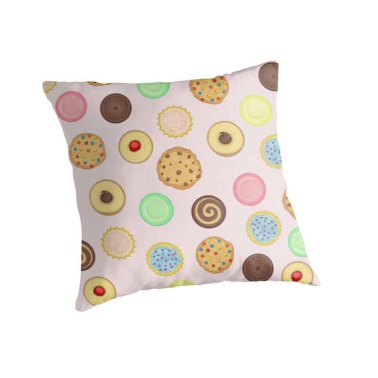 Cookies Pattern Throw Pillows by AnMGoug on Redbubble. #cookies #pattern #pillow #cookie