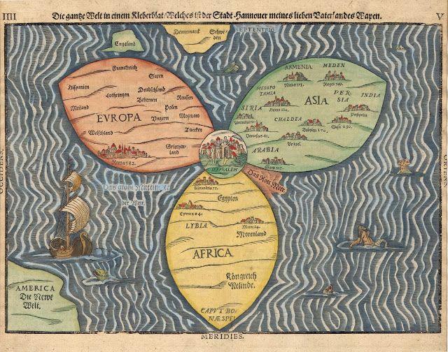 Μεγάλοι Θαλασσοπόροι: Παγκόσμιος Χάρτης του 1581 που απεικονίζει τον κόσ...