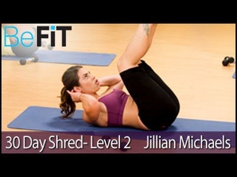 Jillian Michaels: 30 Day Shred Workout- Level 2 - YouTube- You need dumbells with this one