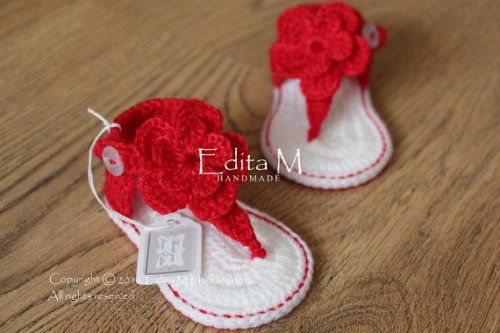 Buy Now Sale. Crochet baby sandals baby gladiator sandals baby...