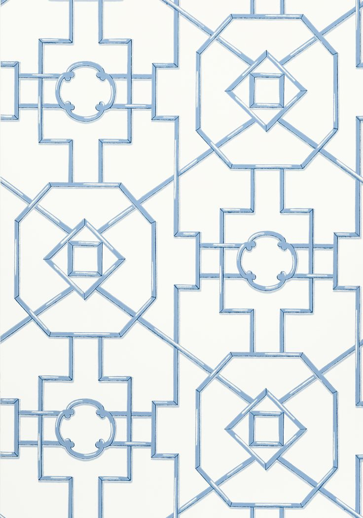 BAMBOO LATTICE, Blue, T36158, Collection Enchantment from Thibaut