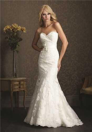 Allure Romance  2501 $$ MbBride...  I know its lace, but good lord, this would look sooo pretty on you!