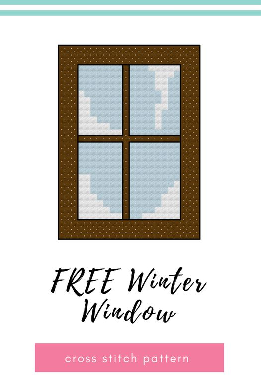 Well now that Halloween is officially done and dusted back to crafting for Christmas. This year I thought I'd design a set of mini cross stitch motifs that could be made up for an advent calendar. The first in the series is a Winter Window.