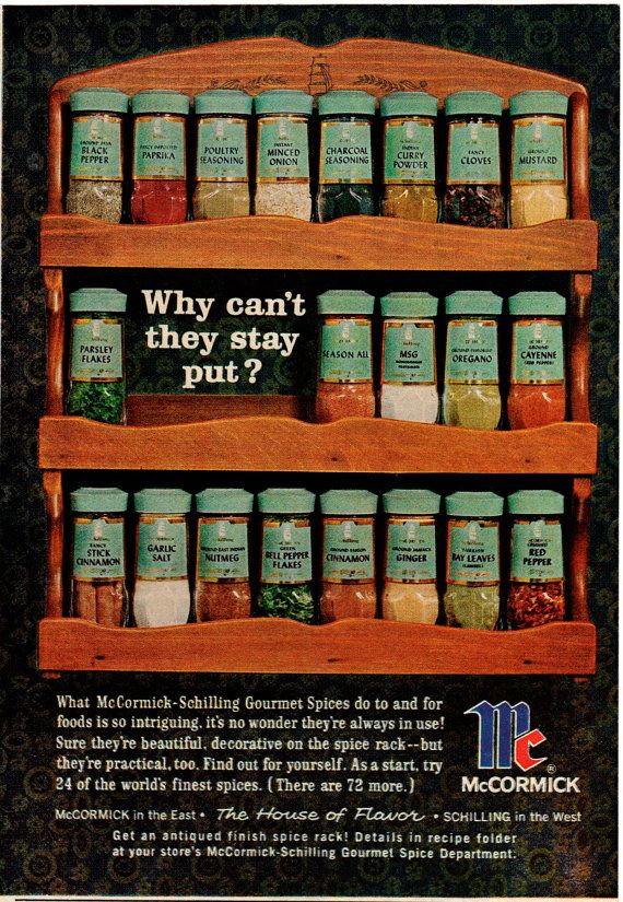 McCormick spice rack -- this is right out of my childhood kichen.