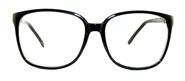 80's Vintage Executive Clear Lens Glasses - 203 Black