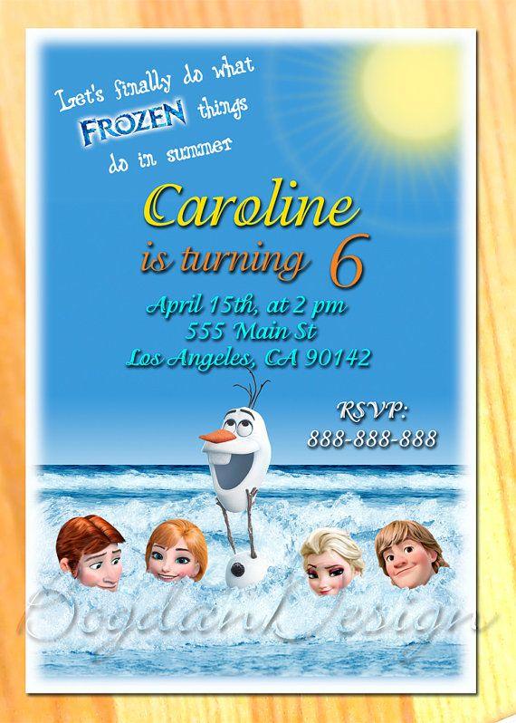 Frozen Birthday Invitation Frozen Birthday Party by BogdanDesign, $5.90