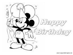 Disney | Happy birthday coloring pages, Happy birthday ...