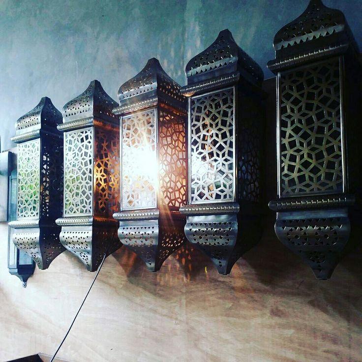 Custom copper wall lamp