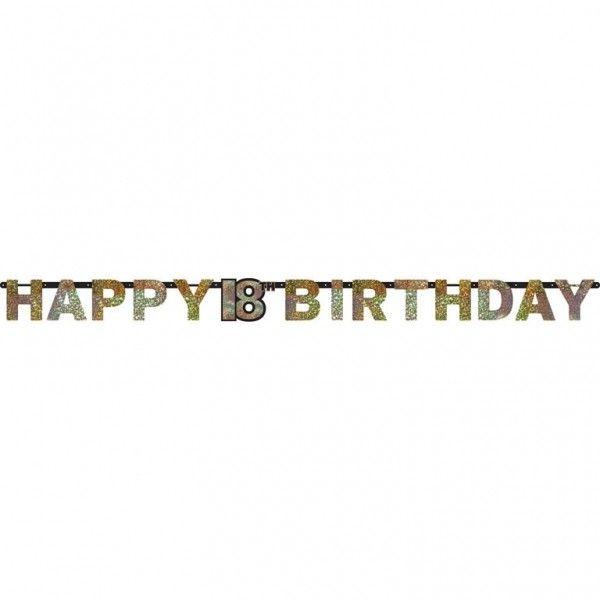 Poze Banner 18 ani Majorat Prismatic Sparkling Celebration Gold 213cm