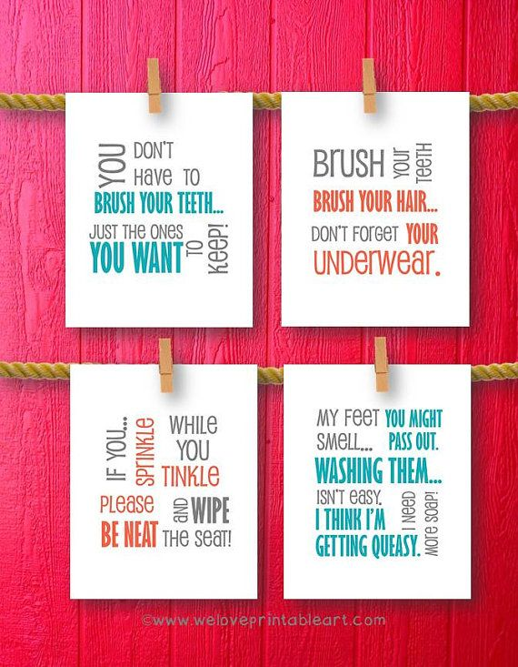 bathroom decor bathroom art prints bathroom rules kids bathroom wall quotes wash
