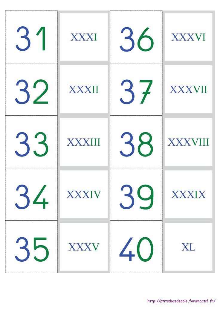 un jeu de cartes pour apprendre et m moriser les chiffres romains cp ce1 ce2 pinterest. Black Bedroom Furniture Sets. Home Design Ideas