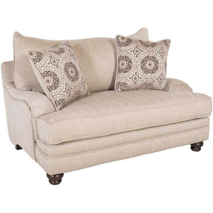 Milan oversized Beige Chair and ottoman