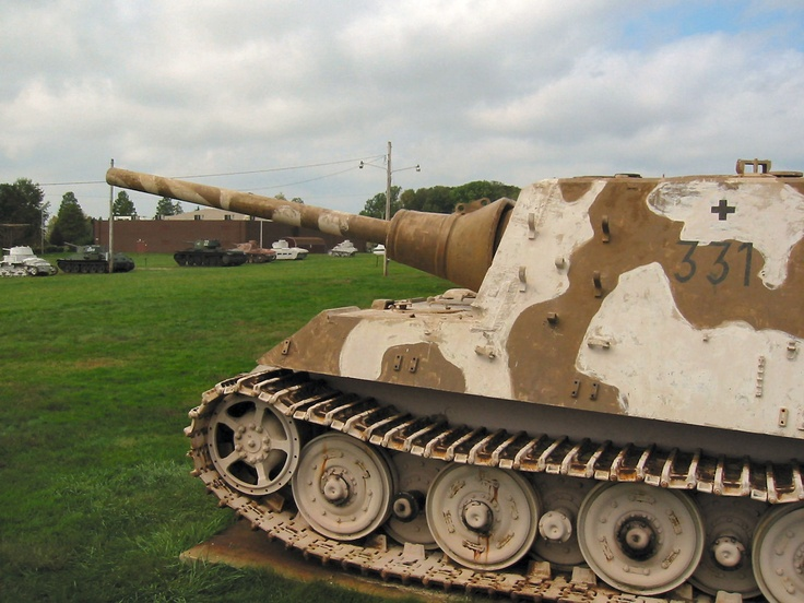 "Jagdtiger (""Hunting Tiger"") is the common name of a German tank destroyer of World War II. The official German designation was Panzerjäger Tiger Ausf. B. The ordnance inventory designation was Sd. Kfz. 186. It saw service in small numbers from late 1944 to the end of the war on both the Western and Eastern Front. The Jagdtiger was the heaviest armored fighting vehicle operationally used during World War II..."