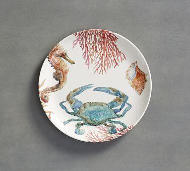 Under the Sea Critter Melamine Dinner Plate Set of 4 & 19 best *Tabletop u003e Melamine Dinnerware* images on Pinterest ...