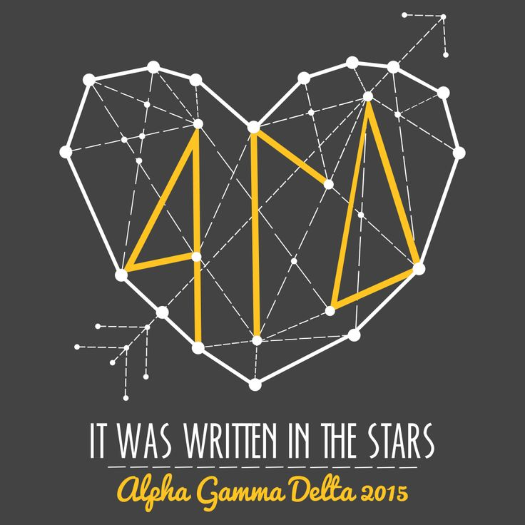 It Was Written in the Stars Alpha Gamma Delta Bid Day Design by College Hill Custom Threads sorority and fraternity greek apparel and products //