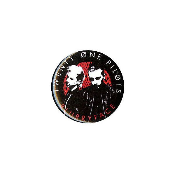 Twenty One Pilots Blurryface Pin Hot Topic ($1.59) ❤ liked on Polyvore featuring jewelry, brooches and pin