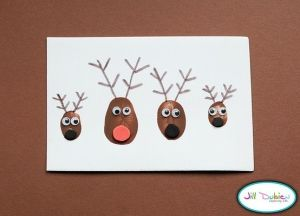 Thumbprint Reindeer by kasrin.knackebrot