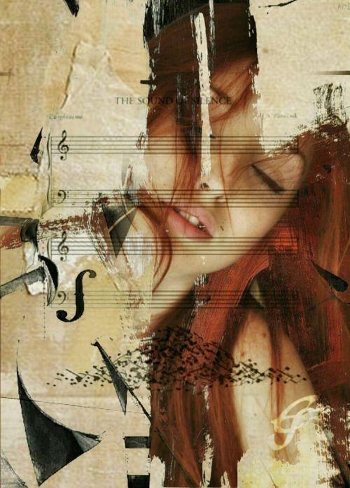 Emma silk art..Chiara Anna..Le tue parole..sono scritte qui ..sul pentagramma del mio cuore..che affonda nel tuo amore